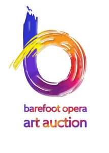This image has an empty alt attribute; its file name is Barefoot-art-auction-logo-214x300.jpg